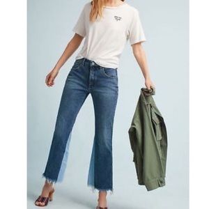 Anthropologie Pilcro Cropped Two Tone Jeans
